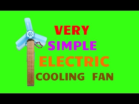 How To Make Electric Cooling Fan - Very Simple