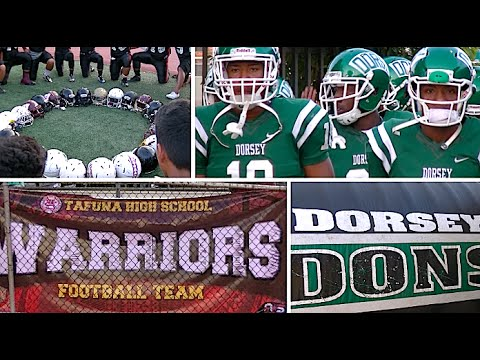HSFB - California vs Samoa : Dorsey vs American Samoa Sports : Highlight Mix 2016