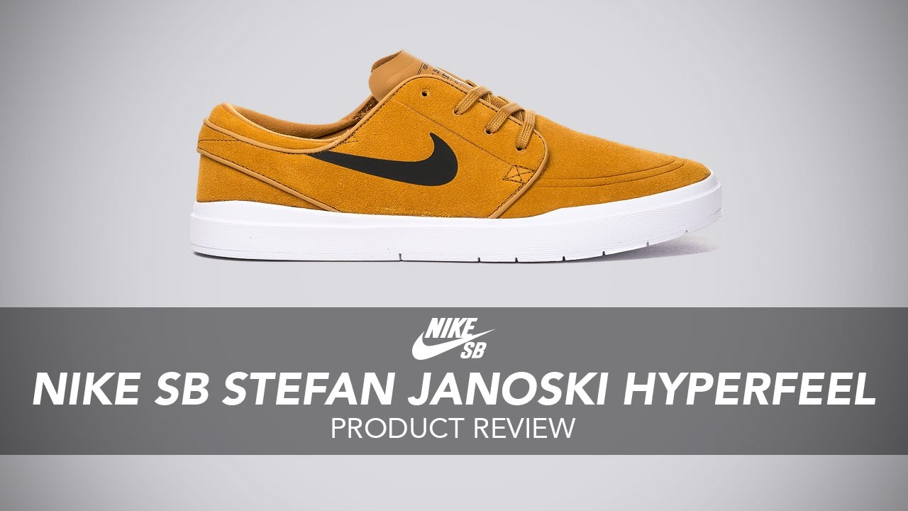 Expresión sinsonte Murciélago  Nike SB Stefan Janoski Hyperfeel Skate Shoe Review - Rollersnakes.co.uk -  YouTube
