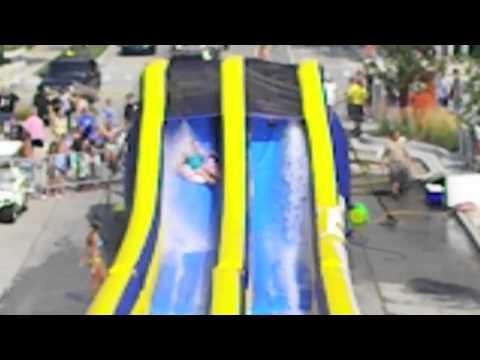 Lyon Street 500-foot water slide