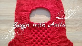 tutorial 38- how to joint/ attach shoulder in knitted sweater (in hindi)