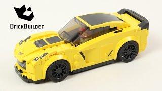 Lego Speed Champions 75870 Chevrolet Corvette Z06 - Lego Speed build
