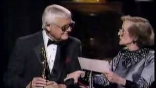 Bette Davis and Robert Wise, Oscars 1987