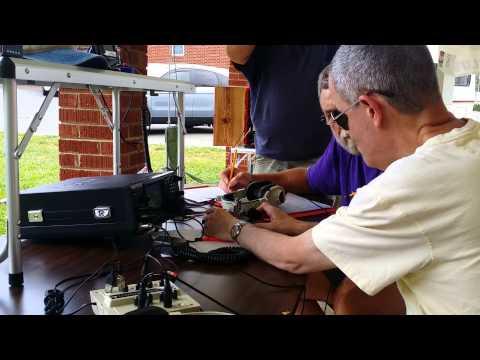 CQ CQ - Calling all HAMS - in Morse code
