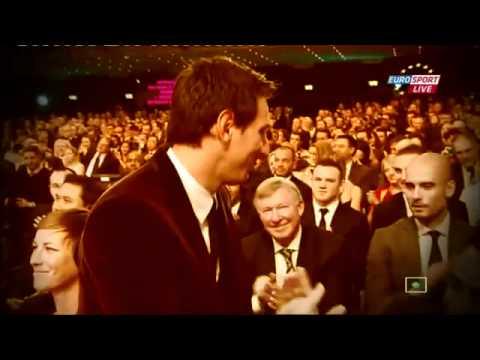Lionel Messi wins Fifa Ballon d'Or (2011-2012)
