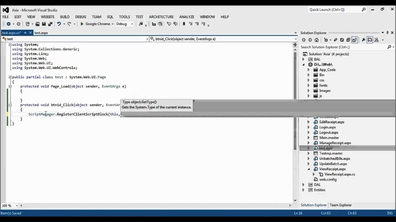 how to call javascript function from code behind on button click in asp net  c#