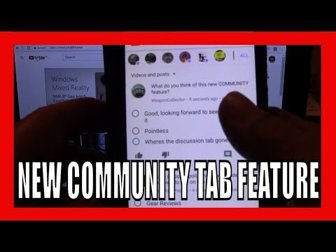 NEW COMMUNITY TAB FEATURE ON YOUTUBE
