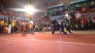 YICK NAM LION DANCE SIFU - LIKAS STADIUM (18JAN 2014)