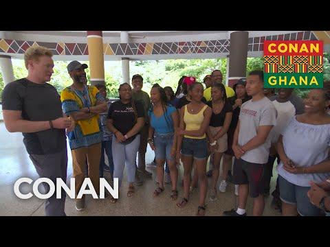 Conan & Sam Richardson Learn About The Year Of Return - CONAN on TBS