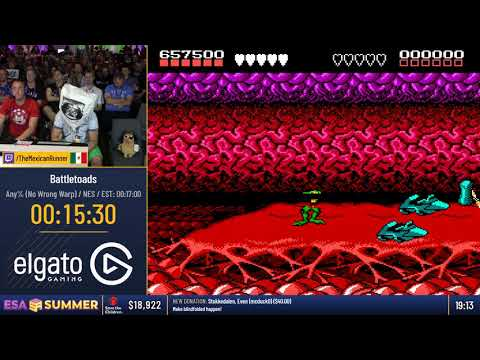 Battletoads BLINDFOLDED Turbo Tunnel DEATHLESS at ESA2018
