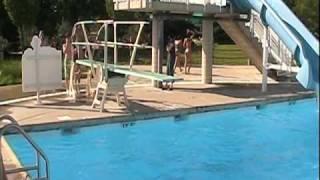 Deepu/Ajju Diving/Sliding/Swimming at Pelican Harbor on May 30th, 2009