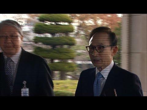 S. Korean ex-president Lee Myung-bak questioned on graft