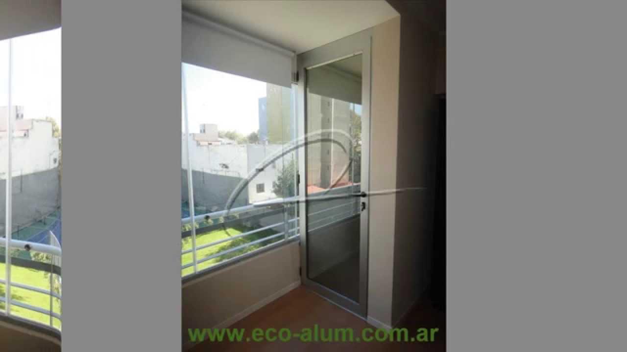 Cerramiento de balc n con cristales templados y puerta - Cerramiento de balcon ...