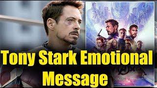 Tony Stark Marvels Ironman Last Emotional Message Bollywood