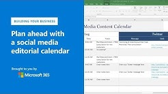Plan ahead with a social media editorial calendar using Microsoft Excel