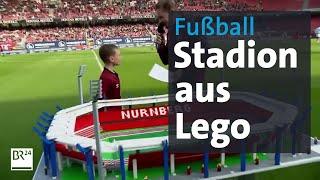 Fußballstadion aus Lego
