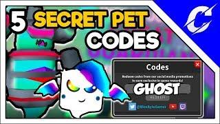 ALL 5 SECRET PET CODES IN GHOST SIMULATOR | ROBLOX GHOST SIMULATOR