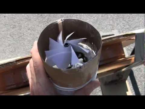 Mini Solar Tower with Fresnel Lens Ver. 6 Screen Solar Air Heater