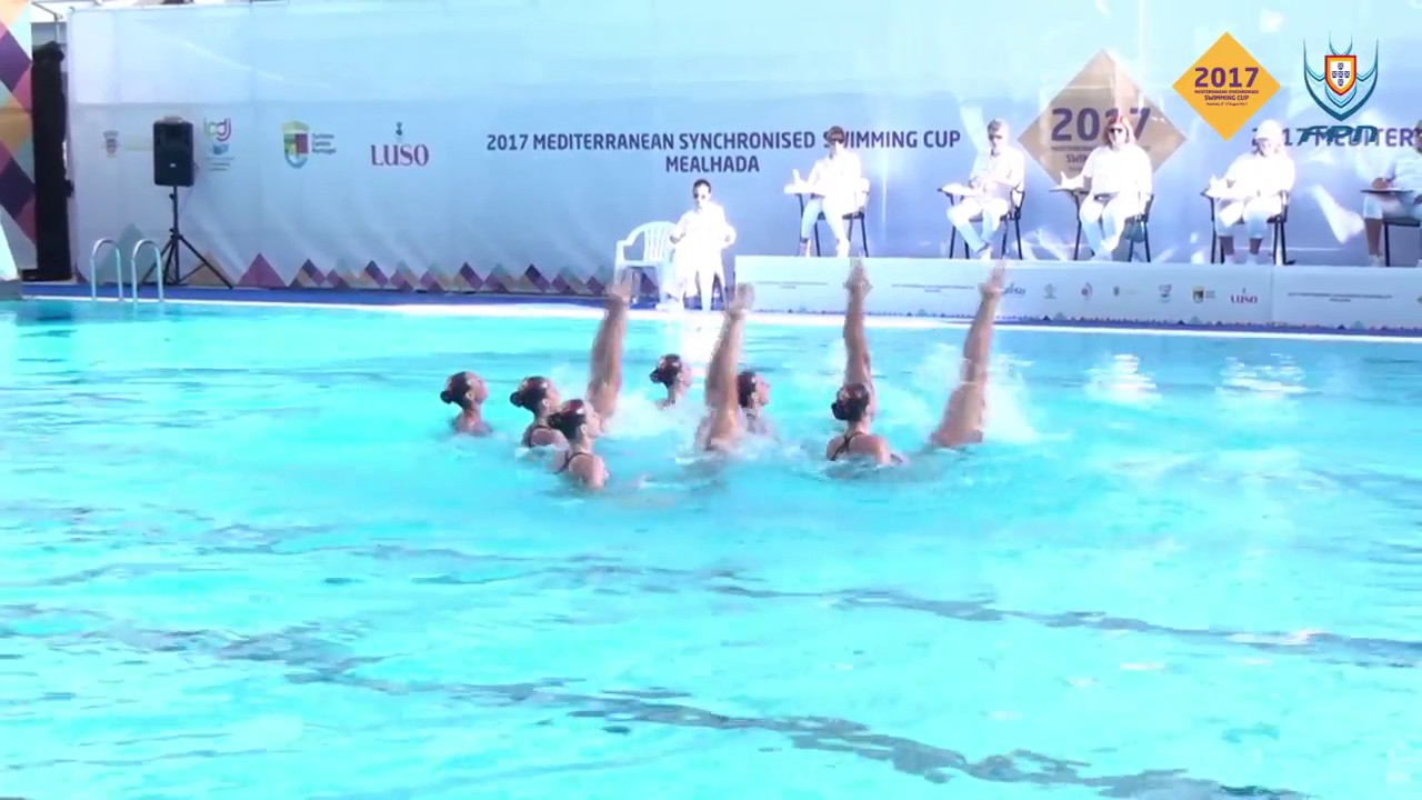 Jelsincro 03 SPAIN RUTINA LIBRE COMBINADA SYNCHRONISED SWIMMING  MEDITERRANEAN CUP 2017