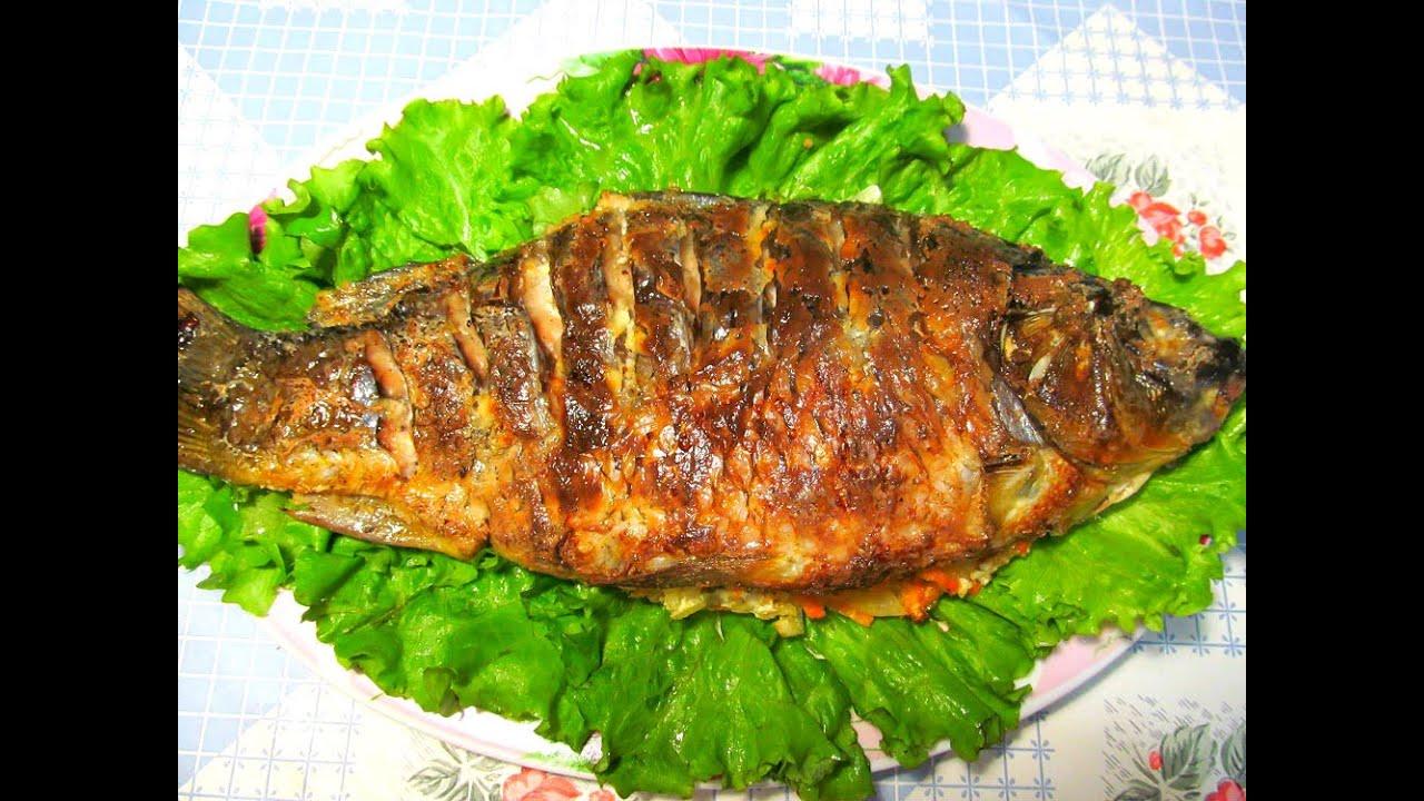 Рыба карп запеченная в духовке