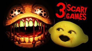 Hamburger is trying t๐ EAT ME! | 3 Scary Games
