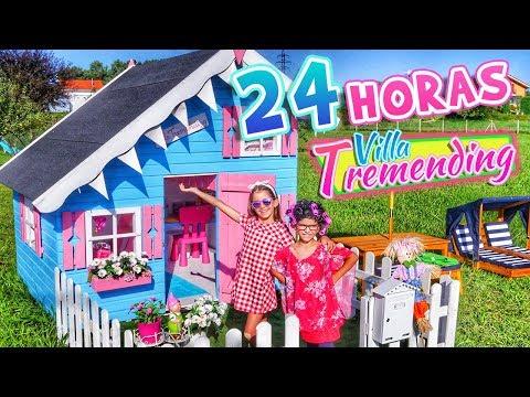 24 HORAS en VILLA TREMENDING 🏡 Mi Casita de Madera