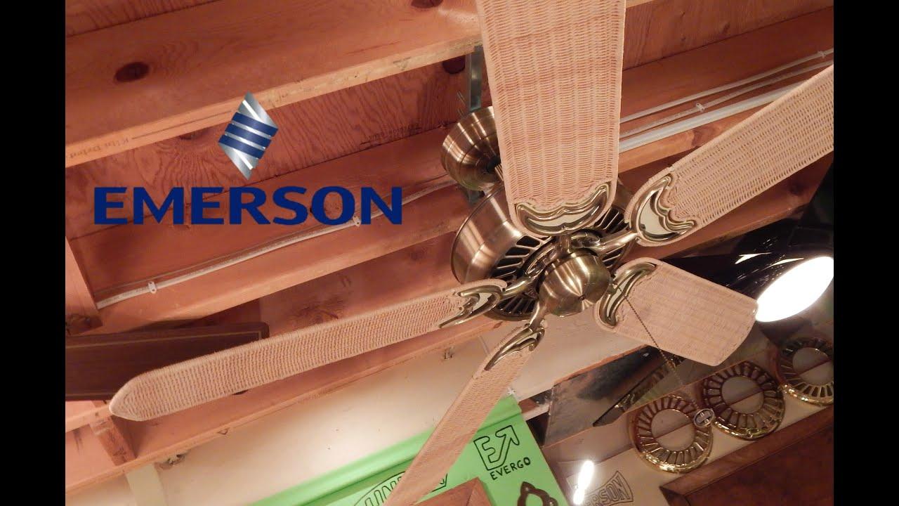 Emerson Apollo Ceiling Fan | Natural Wicker Blades - YouTube