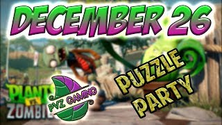 PvZ Heroes: Daily Challenge 12/26/2018 (December 26) – Puzzle Party [December 26th]