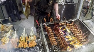 BBQ Chicken Wings on Grill. Food Court vs Hawker Centre. Singapore Street Food