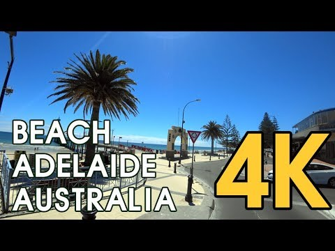 【4K ADELAIDE AUSTRALIA】 Driving On The Beach, Blue Glenelg To Brighton