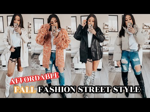 AFFORDABLE FALL FASHION Essentials & STREET STYLE Outfit IDEAS 2019