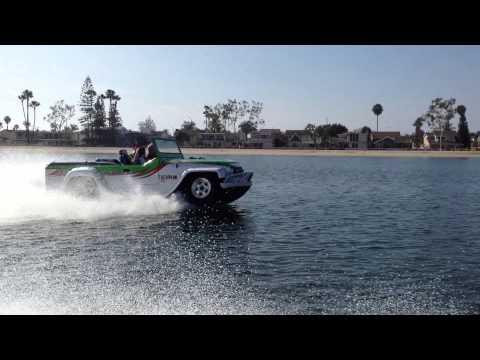 ウォーターカー社の水陸両用車パンサー試乗しました!