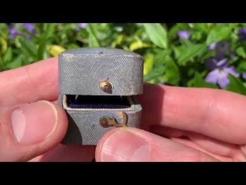 3.8 Carat Old Mine Cut Diamond Heirloom Ring Platinum