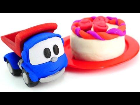 Видео для детей - Лепим торт из пластилина Плей До