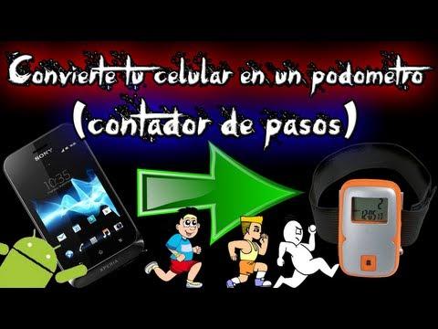 Como convertir tu celular en un podómetro o contador de pasos (android)