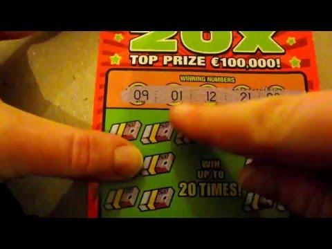 €5 20x multiplier scratchcard- Irish National Lottery #111