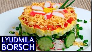 Салат с крабовыми палочками, Самый вкусный и простой рецепт