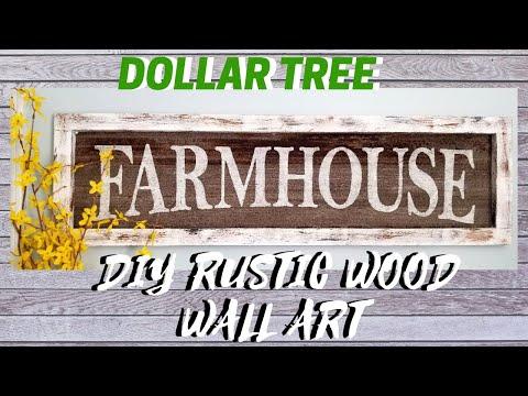 DIY DOLLAR TREE RUSTIC WOOD WALL HOME DECOR || FREEZER PAPER METHOD!