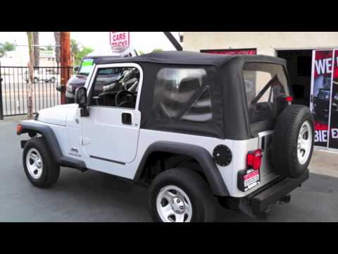 2006 Jeep Wrangler 4 Cylinder 6 Speed Located at Riverside Premier