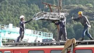2010年9月13日 西武E31大井川鉄道譲渡 パンタ載せ
