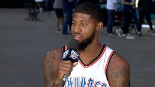 Paul George Talks About His New Team in OKC | Thunder Media Day | Sep 25, 2017