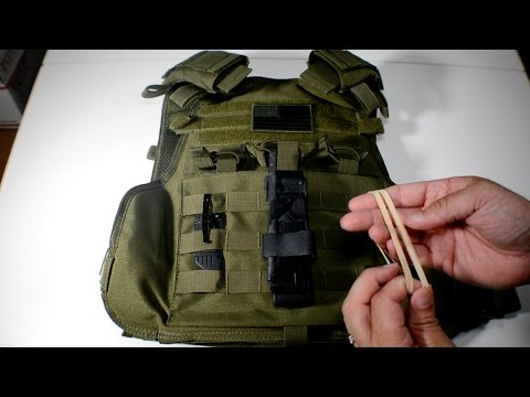 How To Attach A Tourniquet To Molle Gear With Rubber Bands