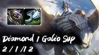 Diamond 1 Galio Support vs Janna | Galio is broken | Korea High Elo