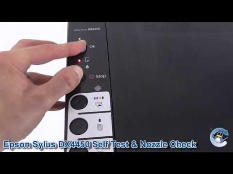 Epson Stylus DX4450: How to do a Self Test & Nozzle Check