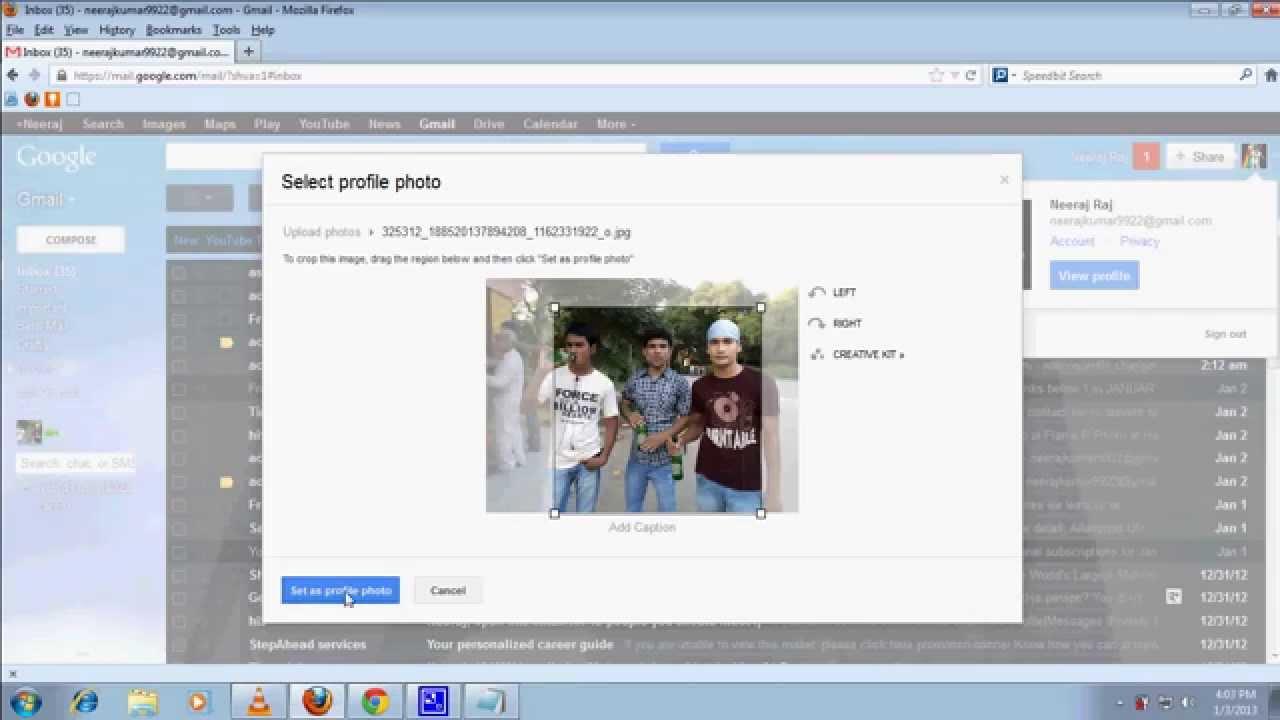 gmail change account profile picture