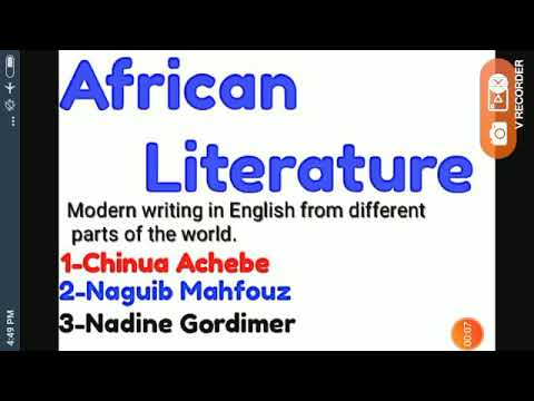 African Literature.Chinua Achebe.Naguib Mahfouz.Nadine Gordimer.World Lit. African Lit.TGT PGT NVS
