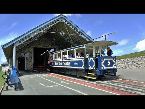 The Great Orme Tramway in Llandudno North Wales 27/07/2017.