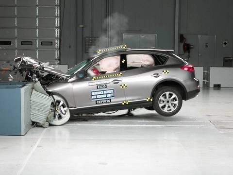 2008 Infiniti EX35 smoderate overlap test