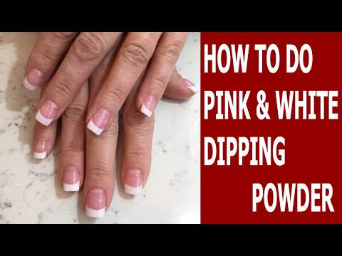 How To Do Pink and White Dipping Powder