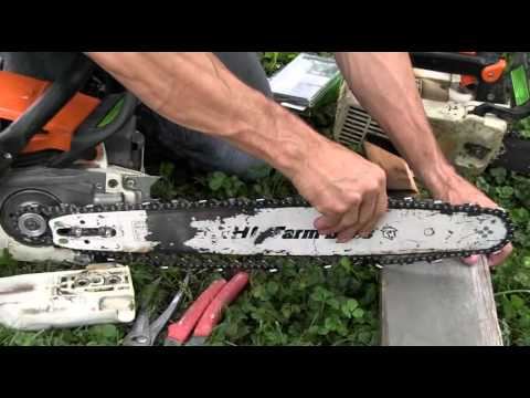 How to change the chain for a stihl ms290 youtube how to change the chain for a stihl ms290 keyboard keysfo Gallery